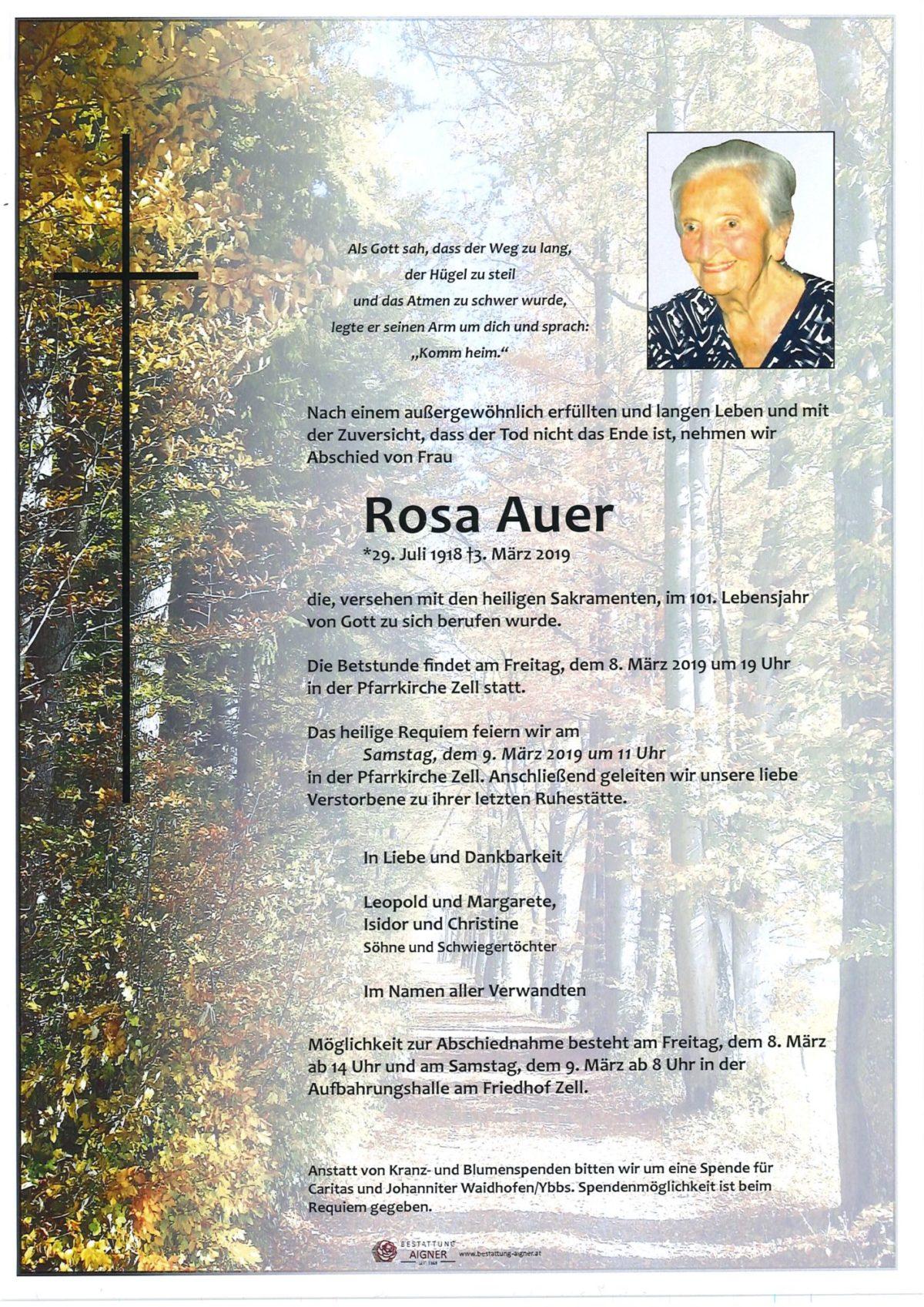 Rosa Auer