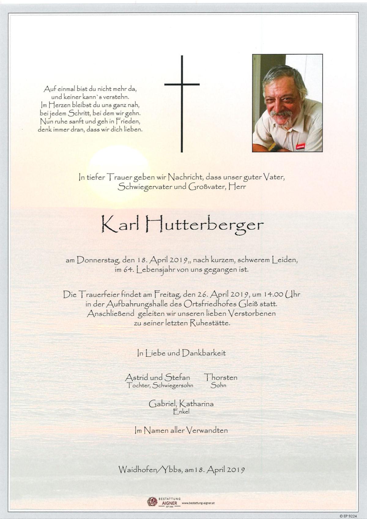 Karl Hutterberger