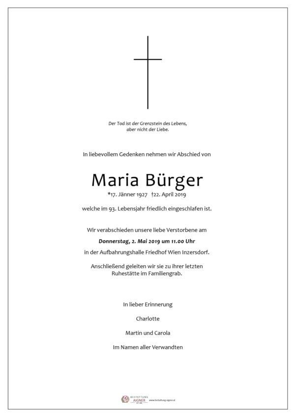 Maria Bürger