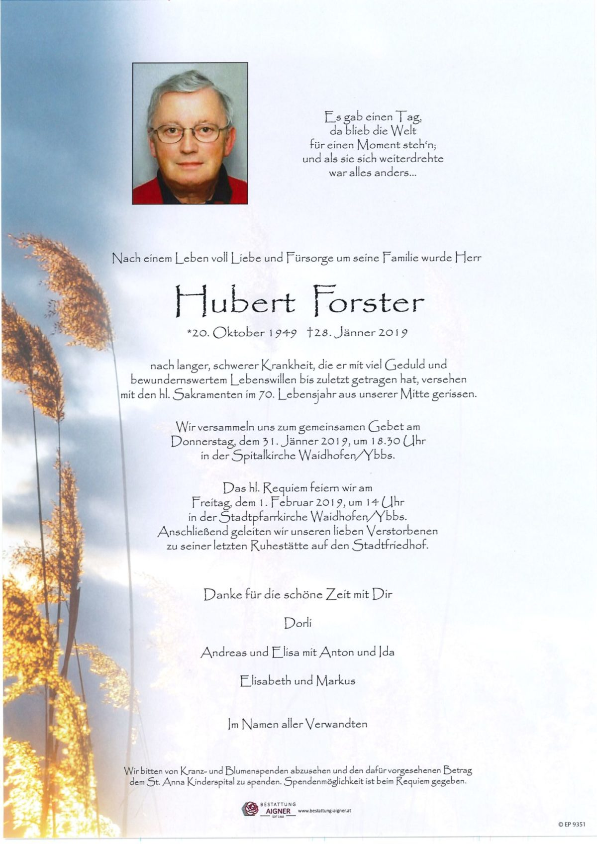 Hubert Forster