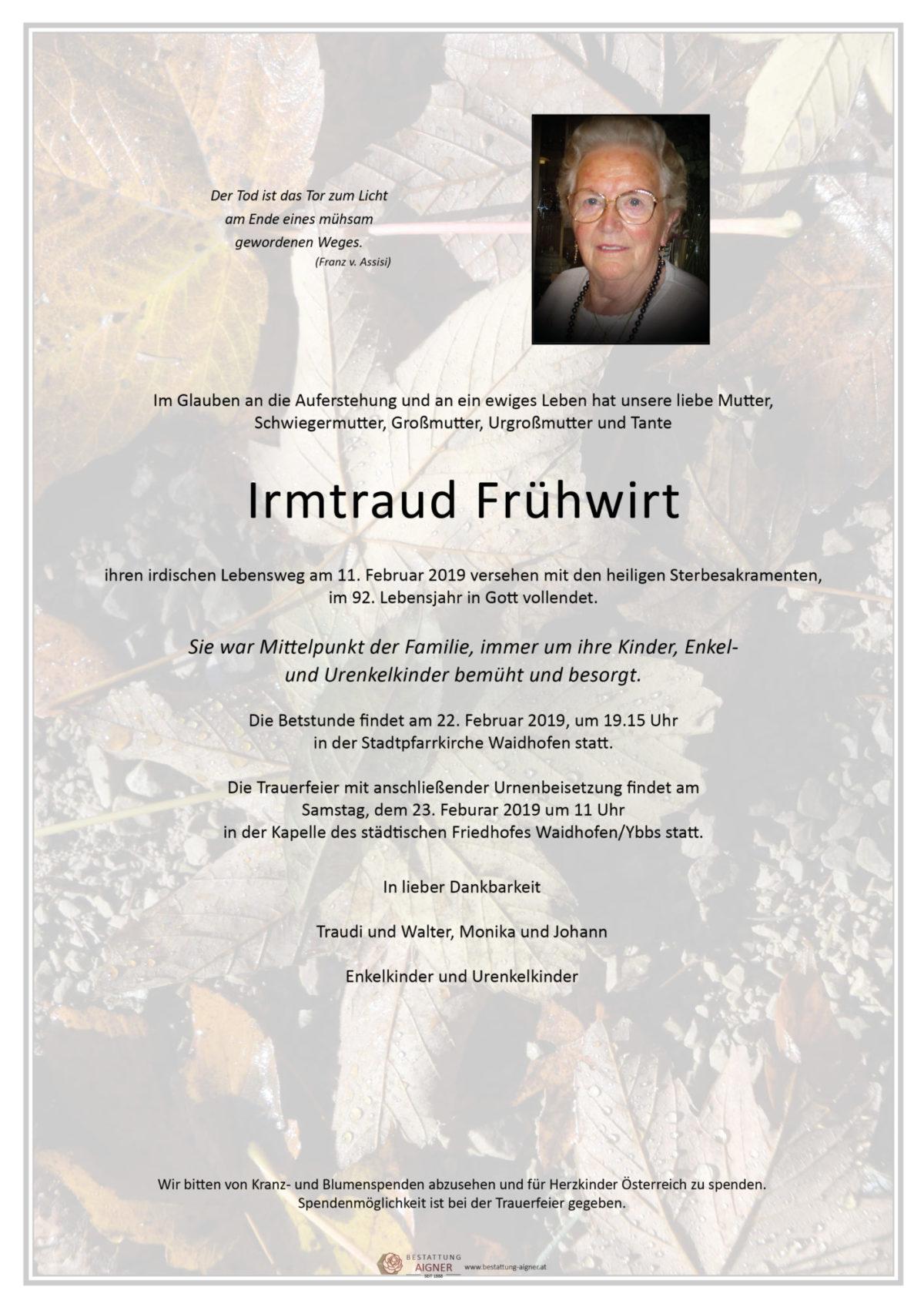 Irmtraud Frühwirth