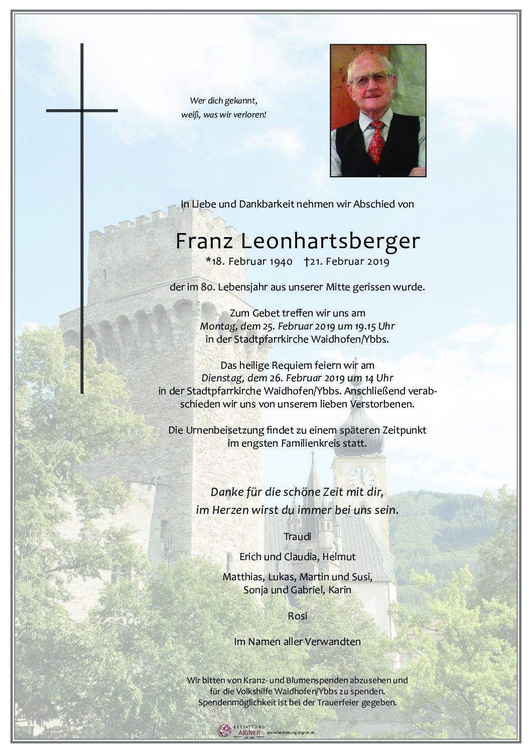 Franz Leonhartsberger