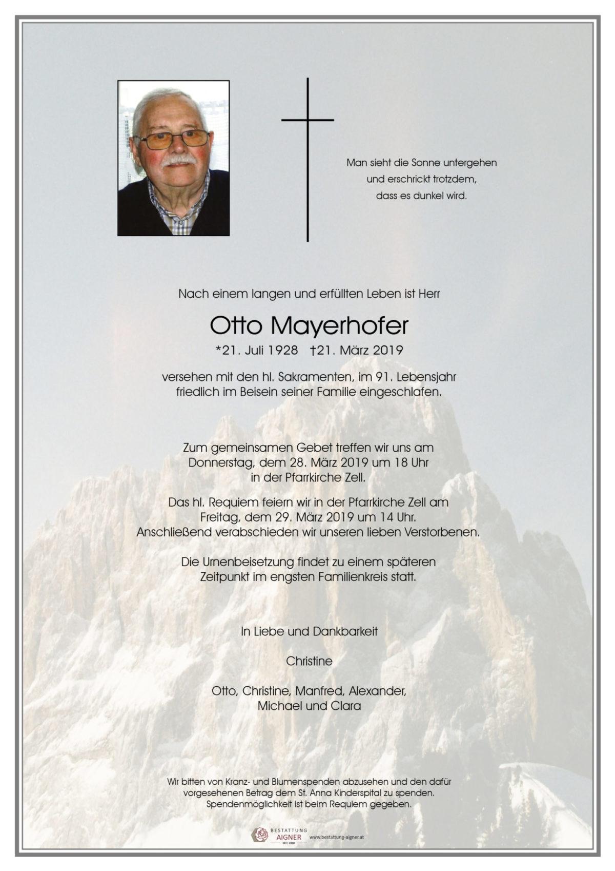 Otto Mayerhofer