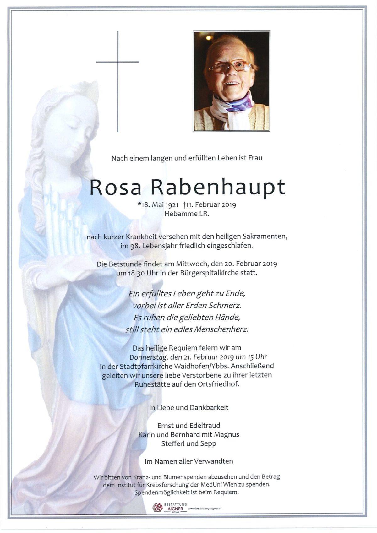 Rosa Rabenhaupt