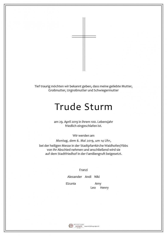 Trude Sturm