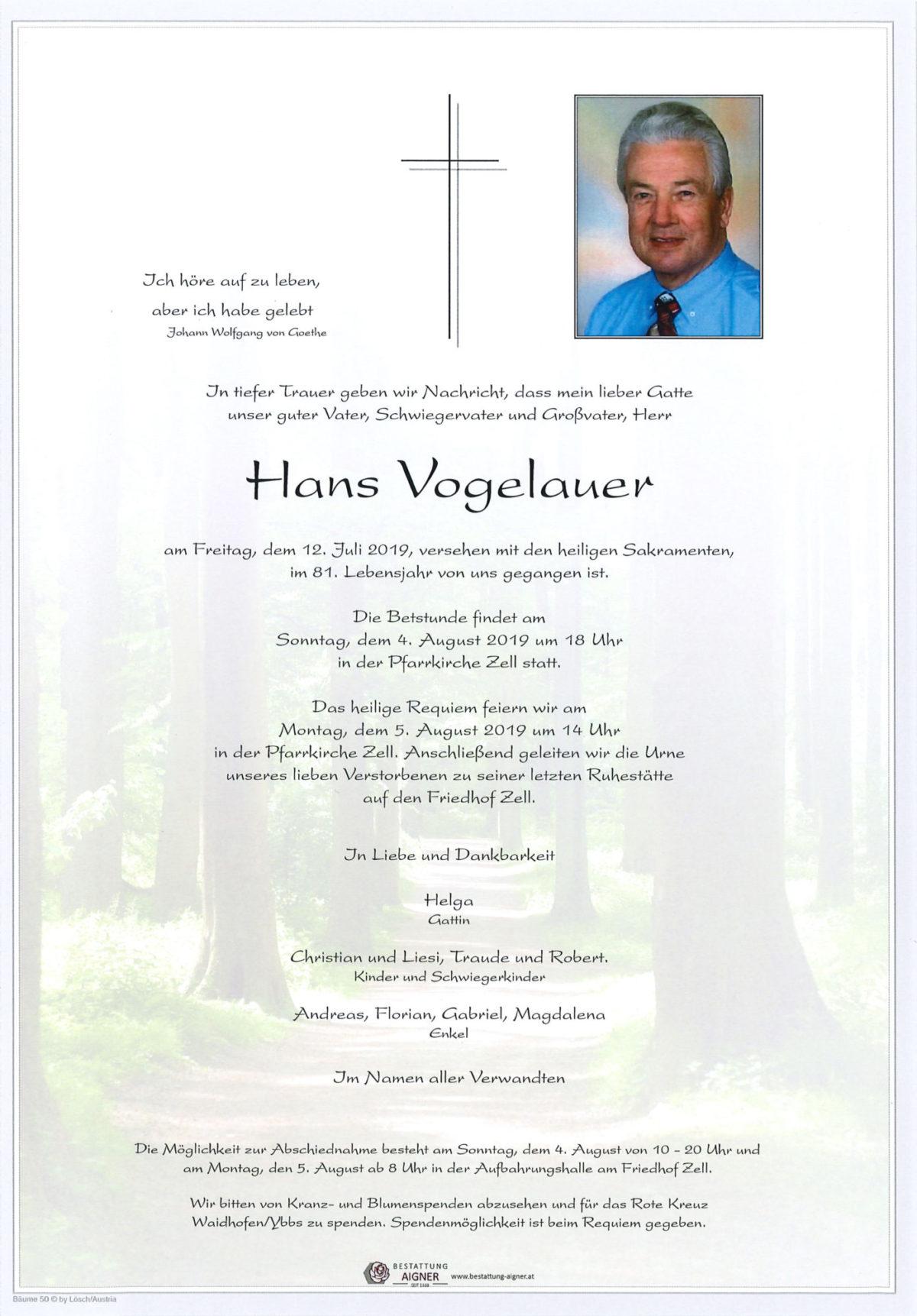 Hans Vogelauer