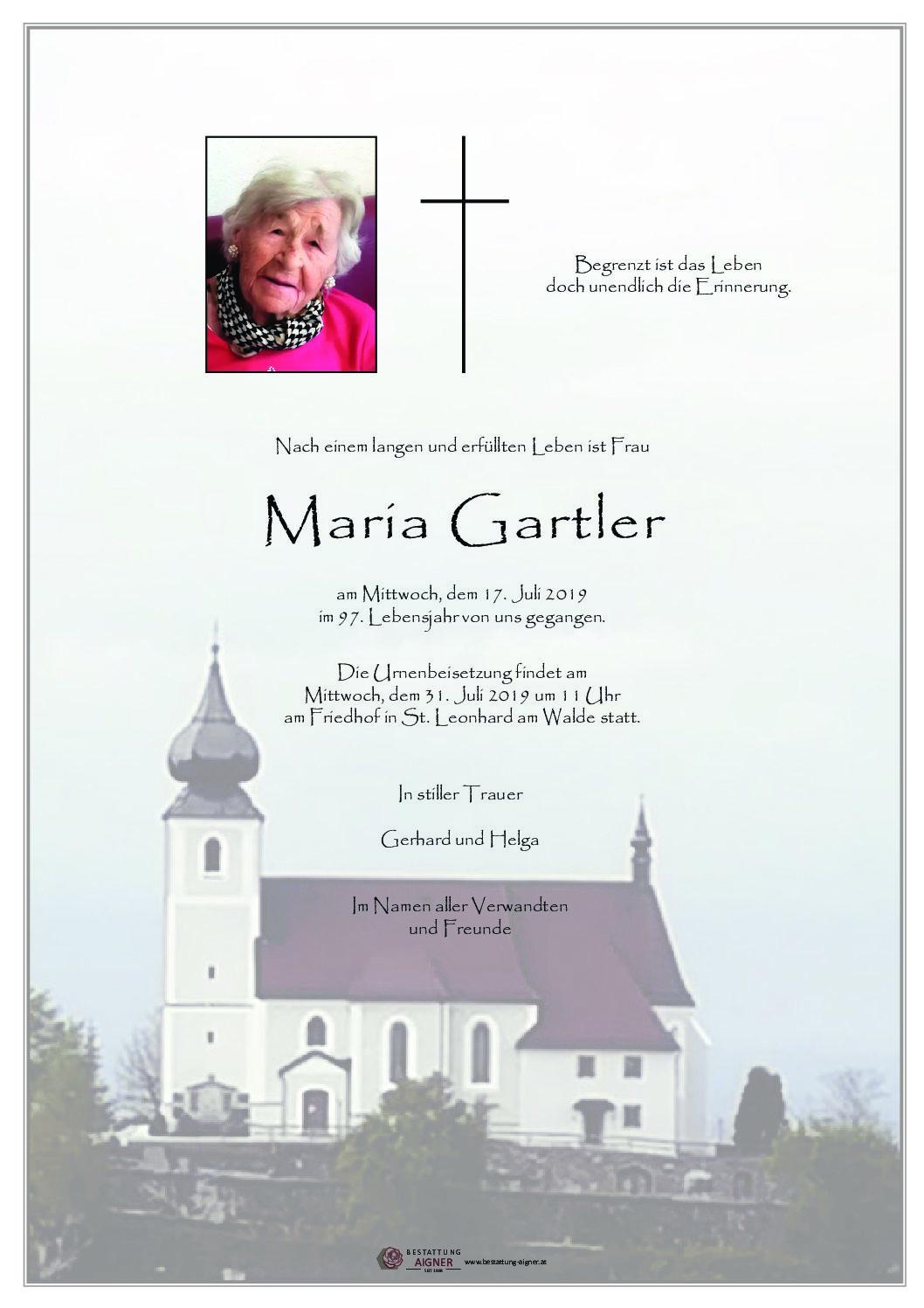 Maria Gartler