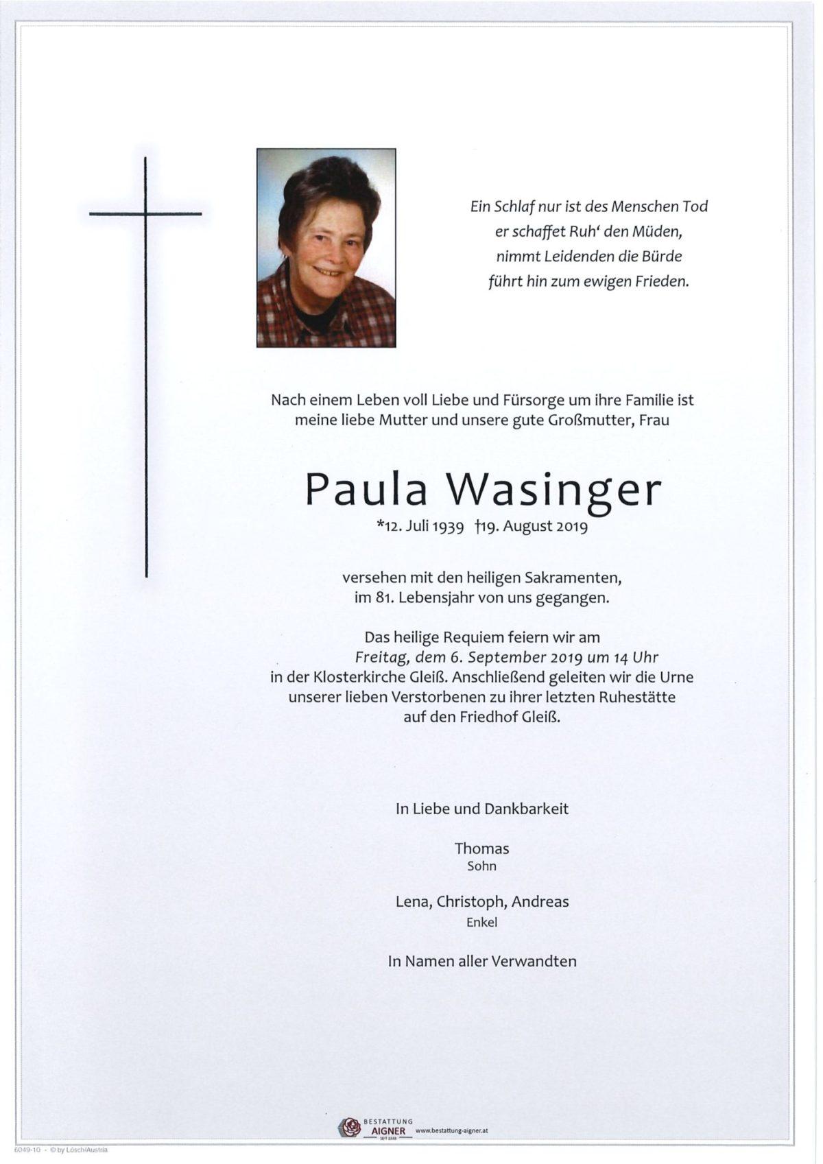 Paula Wasinger