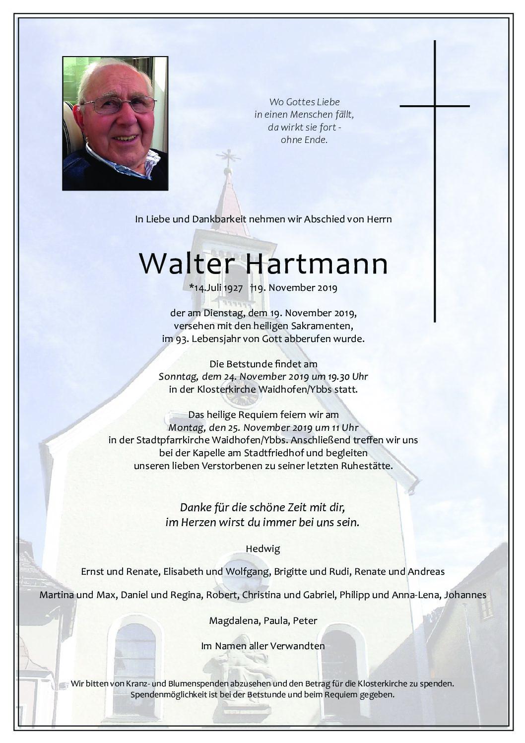 Walter Hartman