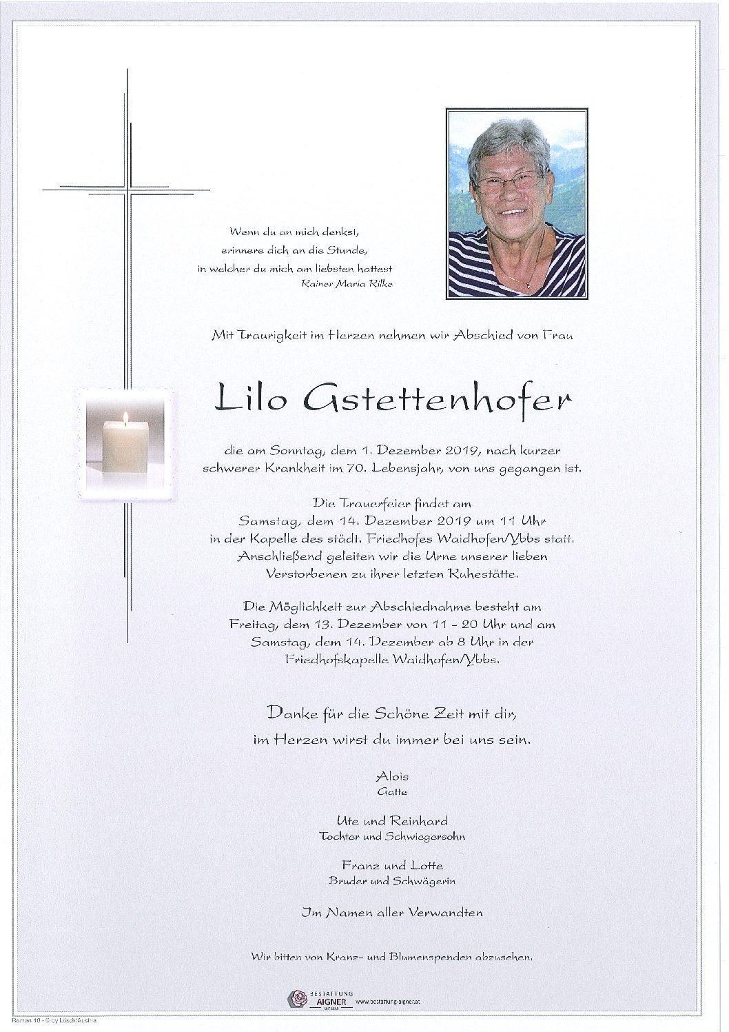 Lilo Gstettenhofer