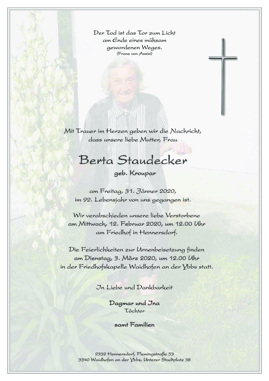 Berta Staudecker