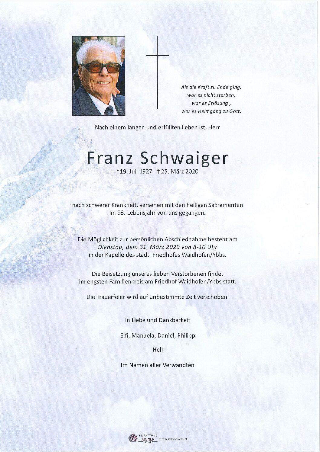 Franz Schwaiger