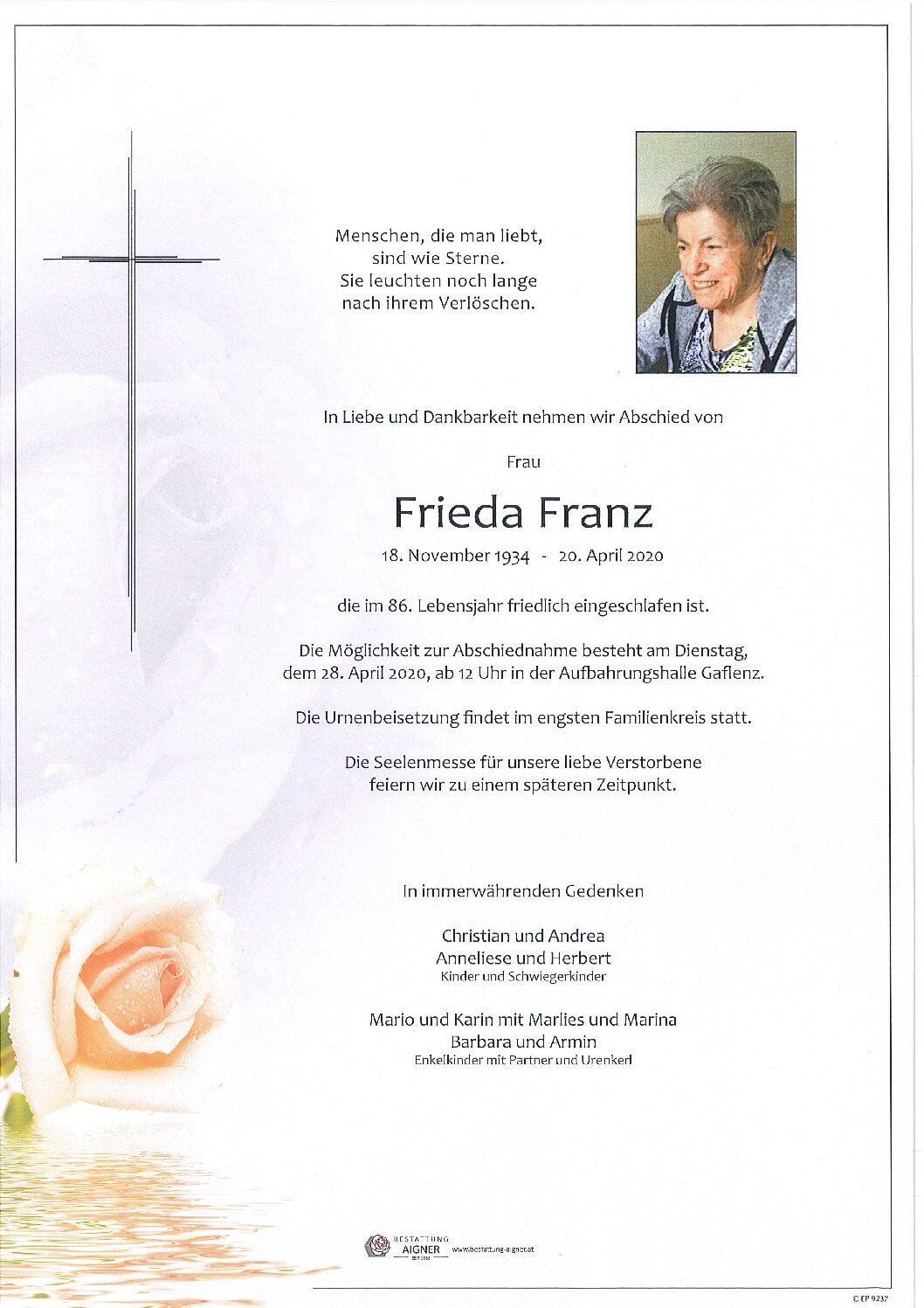 Frieda Franz