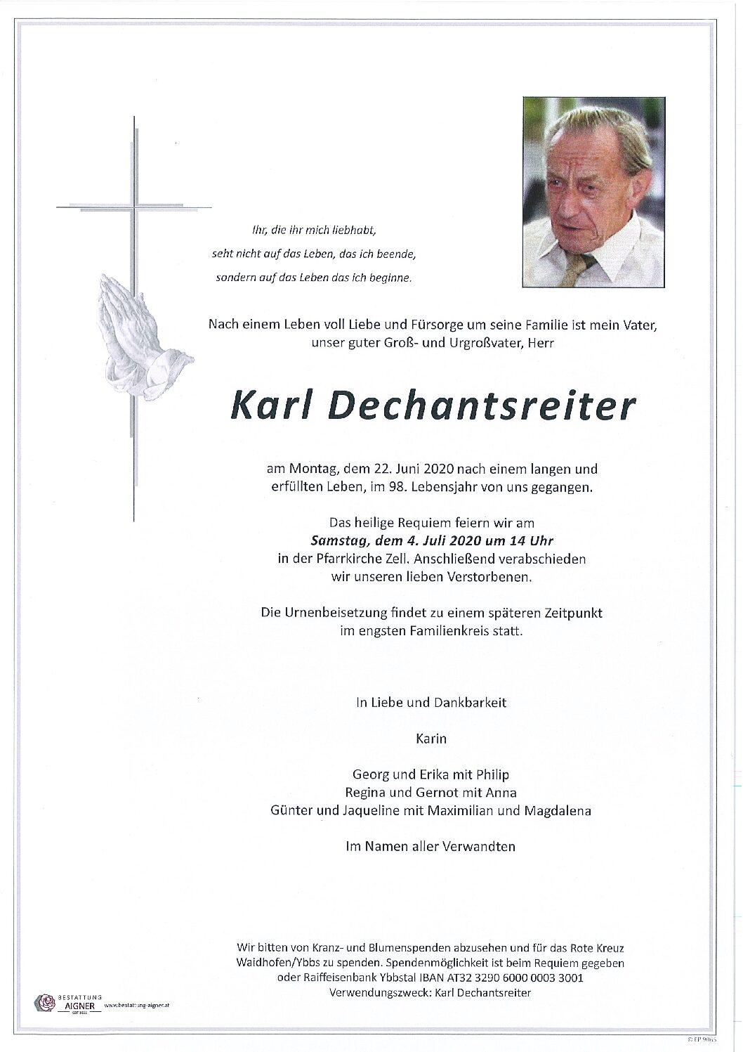 Karl Dechantsreiter