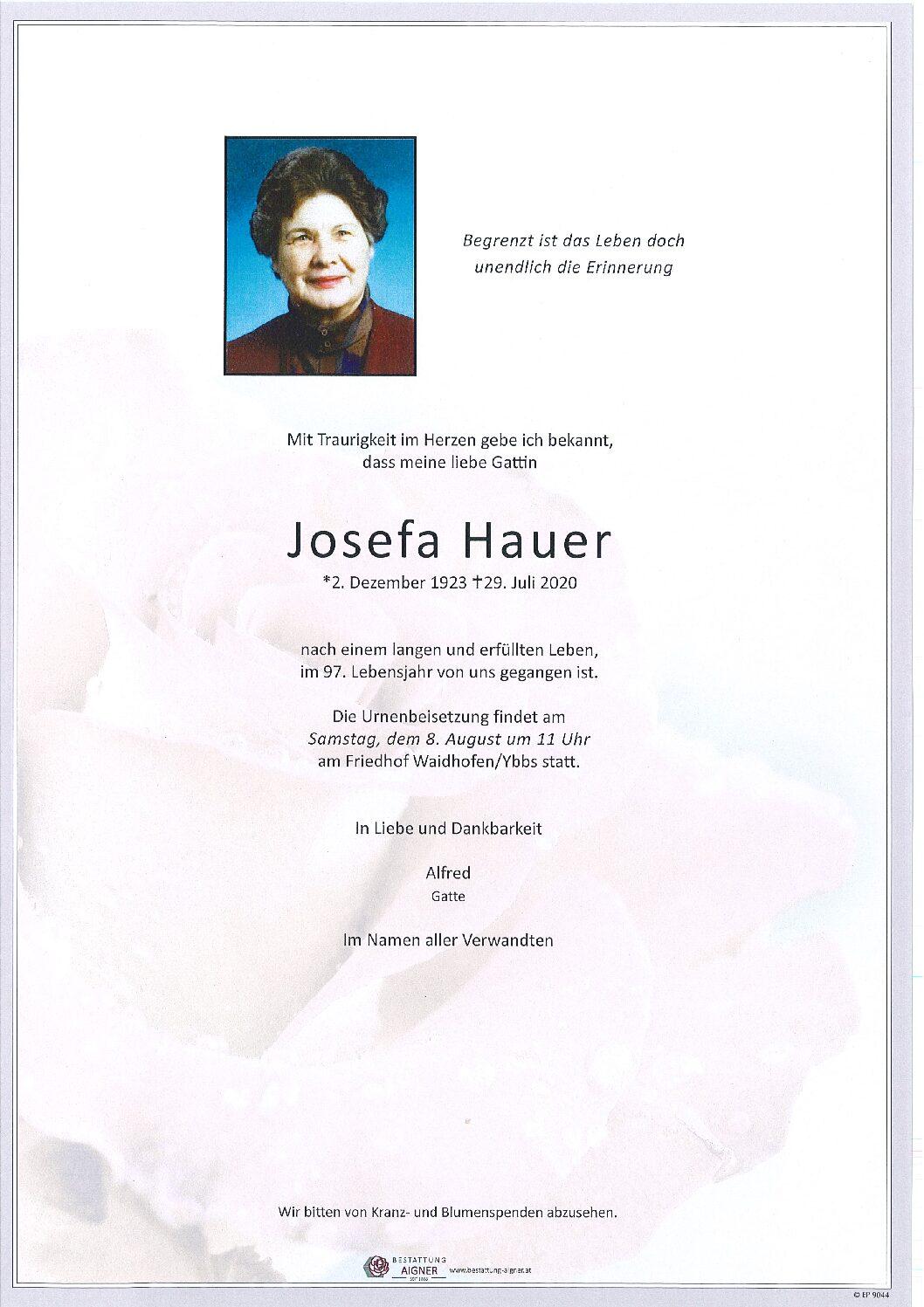 Josefa Hauer
