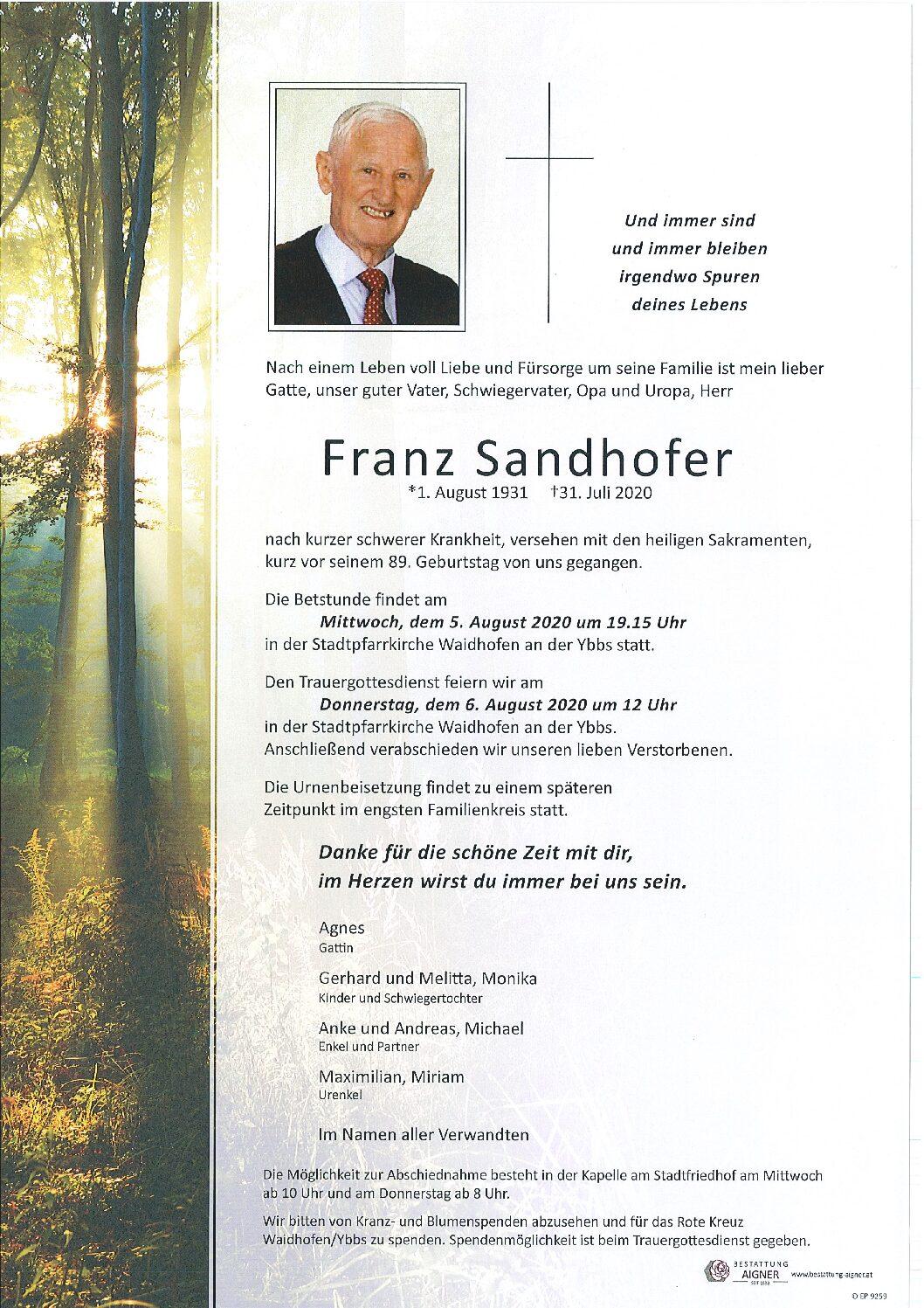 Franz Sandhofer