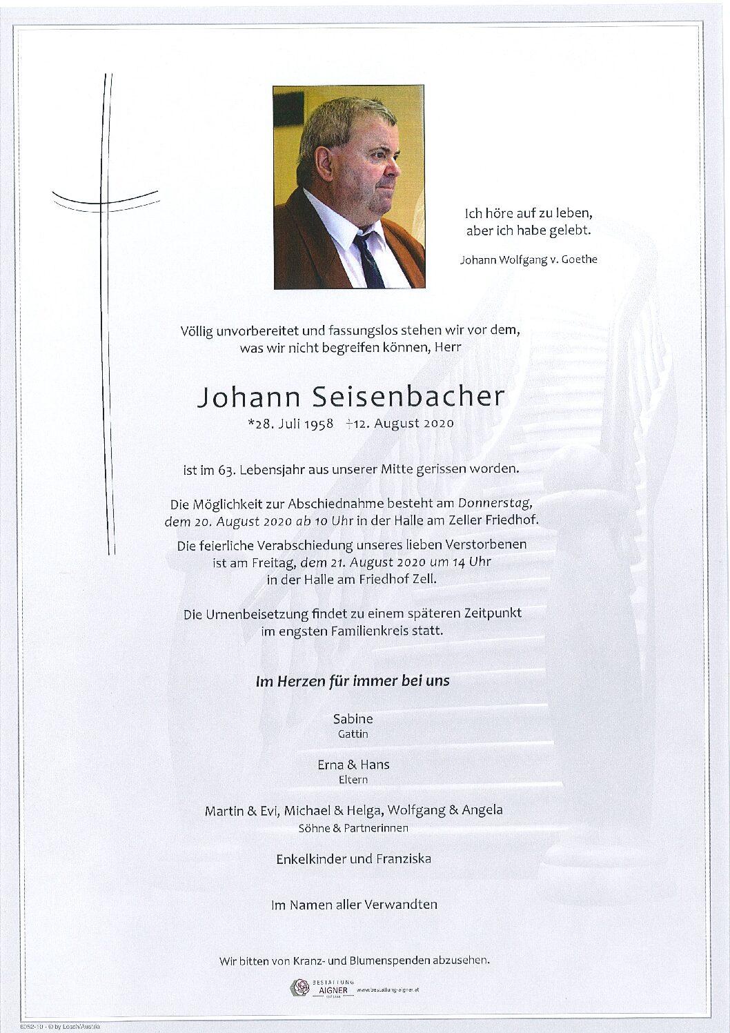 Johann Seisenbacher