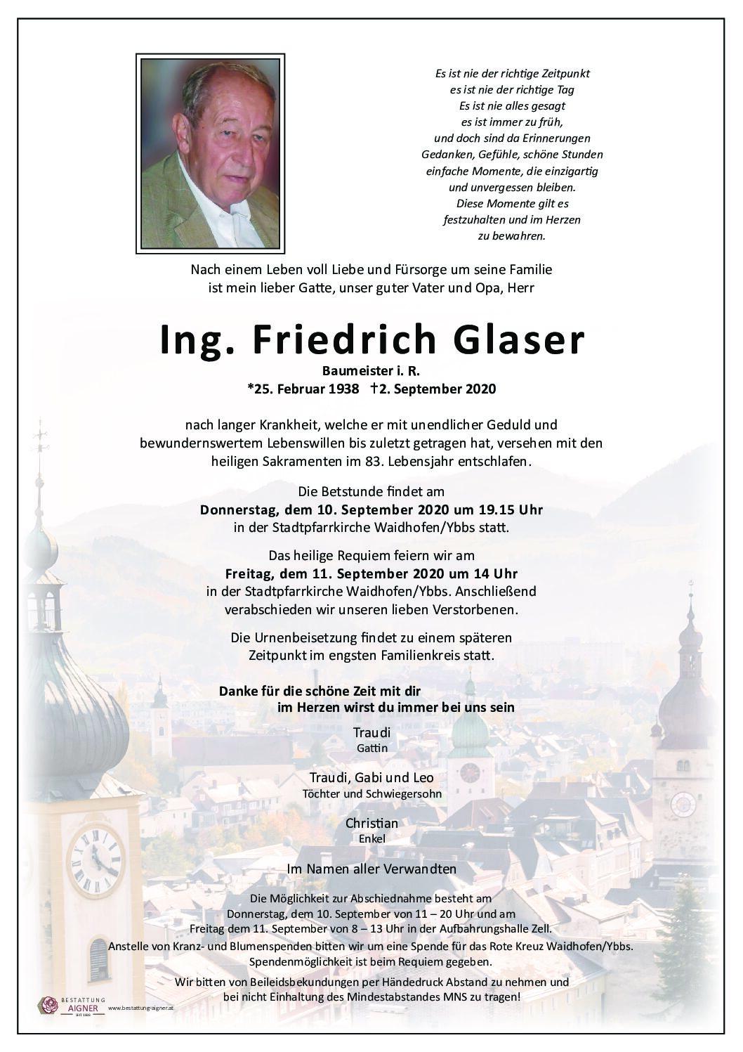 Ing. Friedrich Glaser