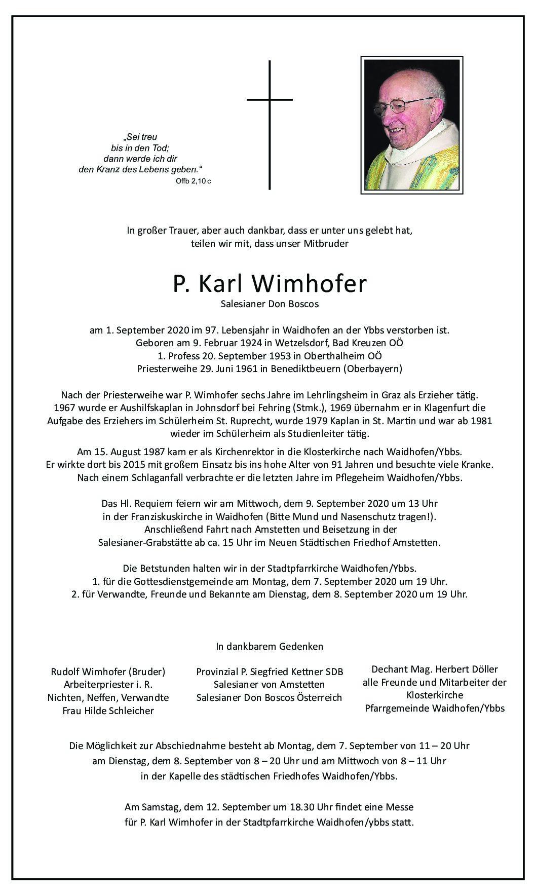 P. Karl Wimhofer