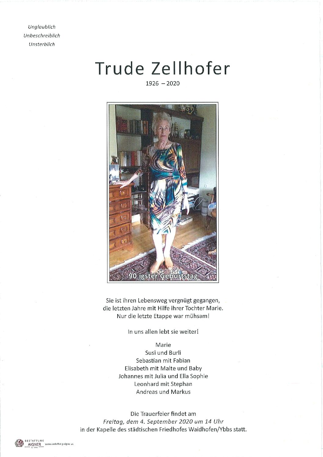 Trude Zellhofer