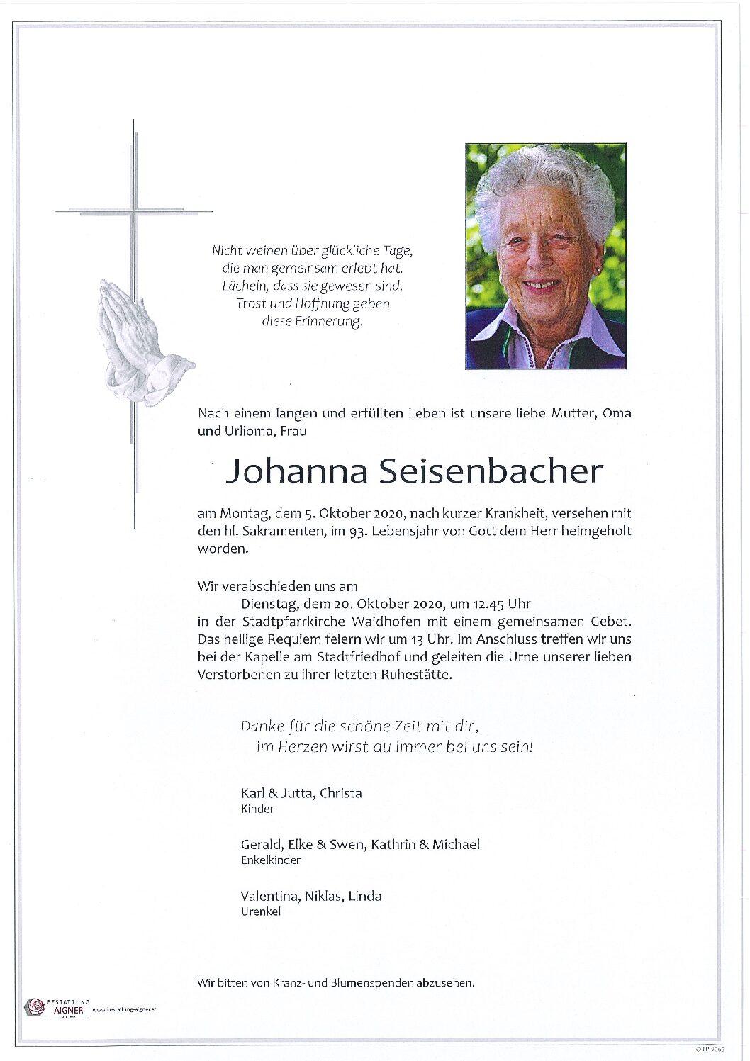 Johanna Seisenbacher