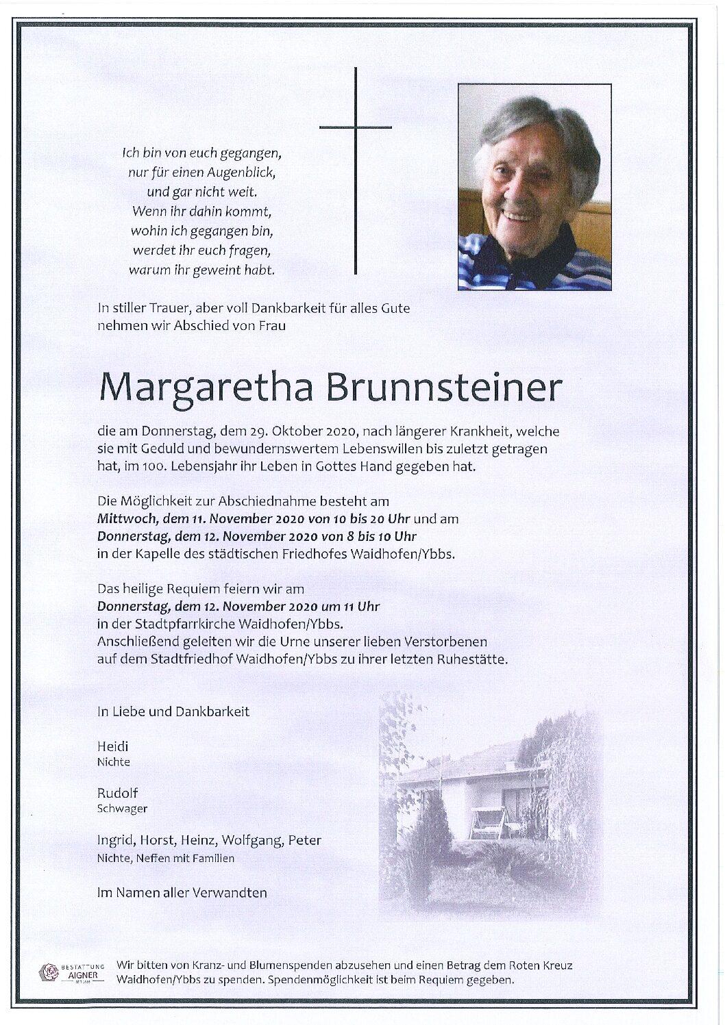 Margaretha Brunnsteiner