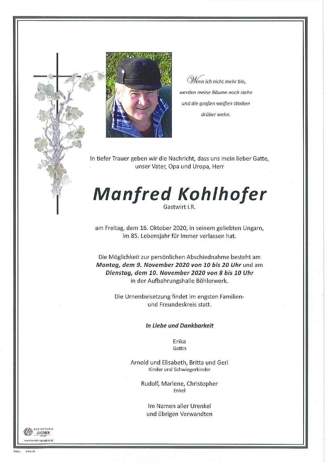 Manfred Kohlhofer
