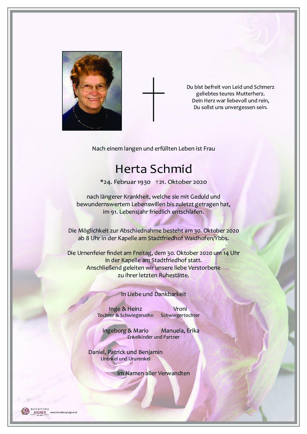 Herta Schmid
