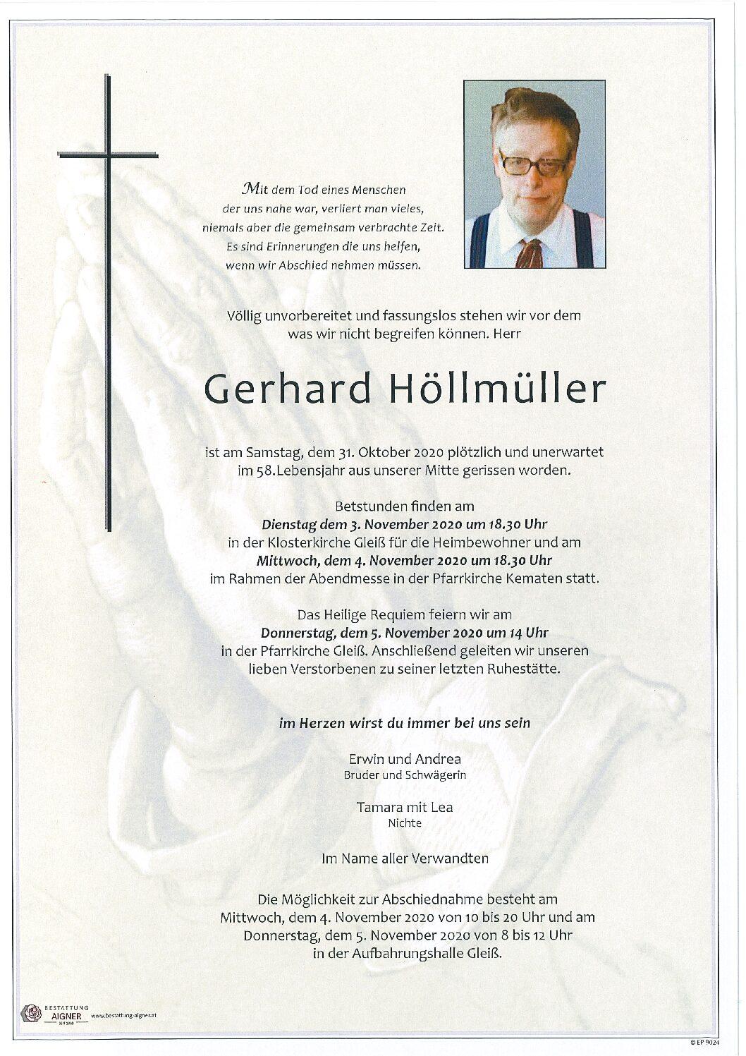 Gerhard Höllmüller
