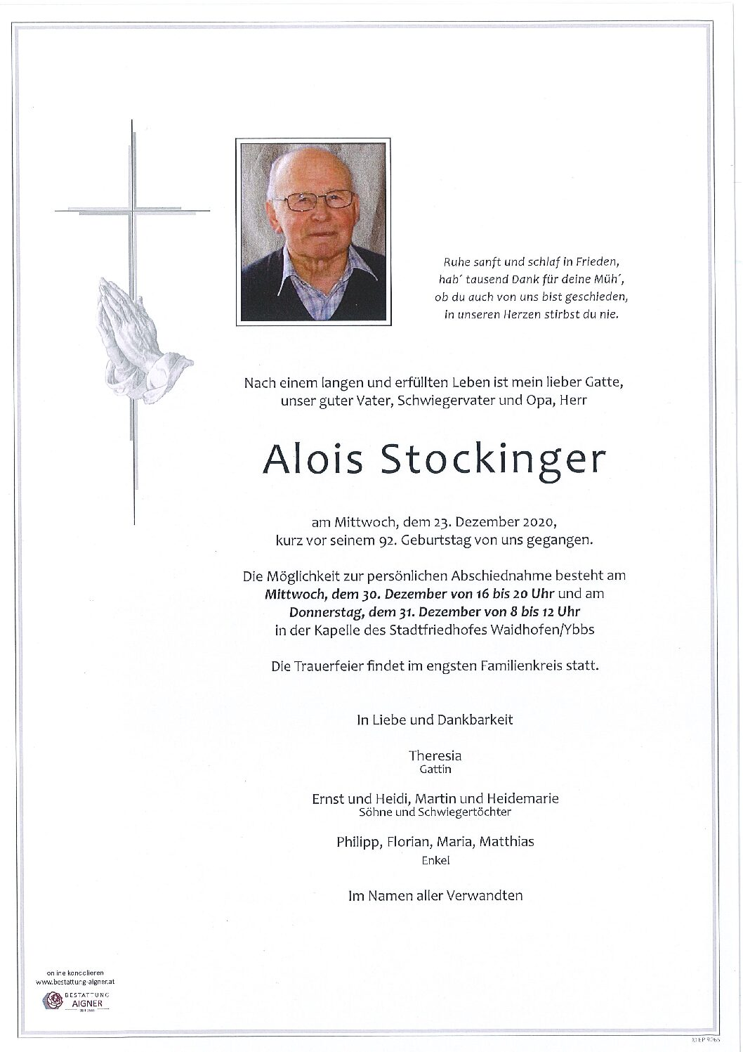 Alois Stockinger