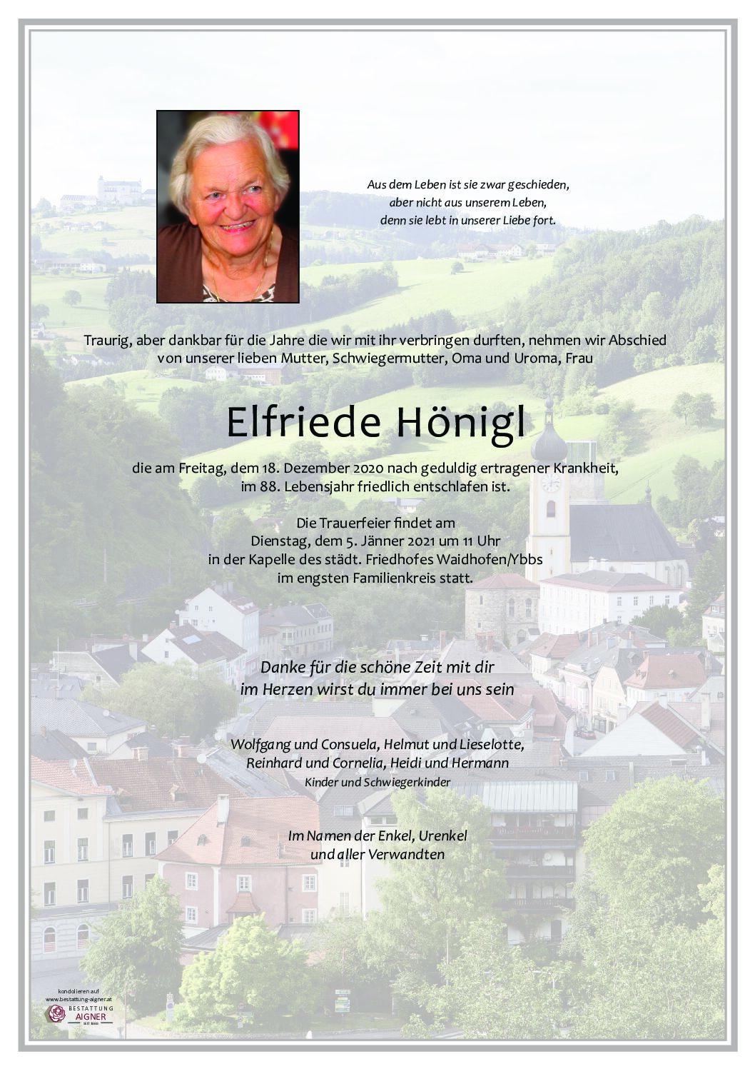 Elfriede Hönigl