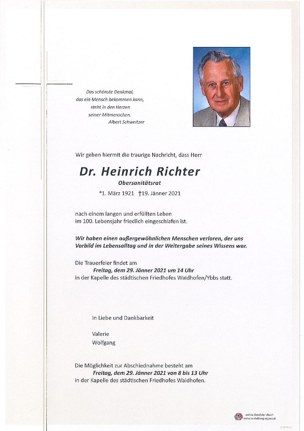 Dr. Heinrich Richter