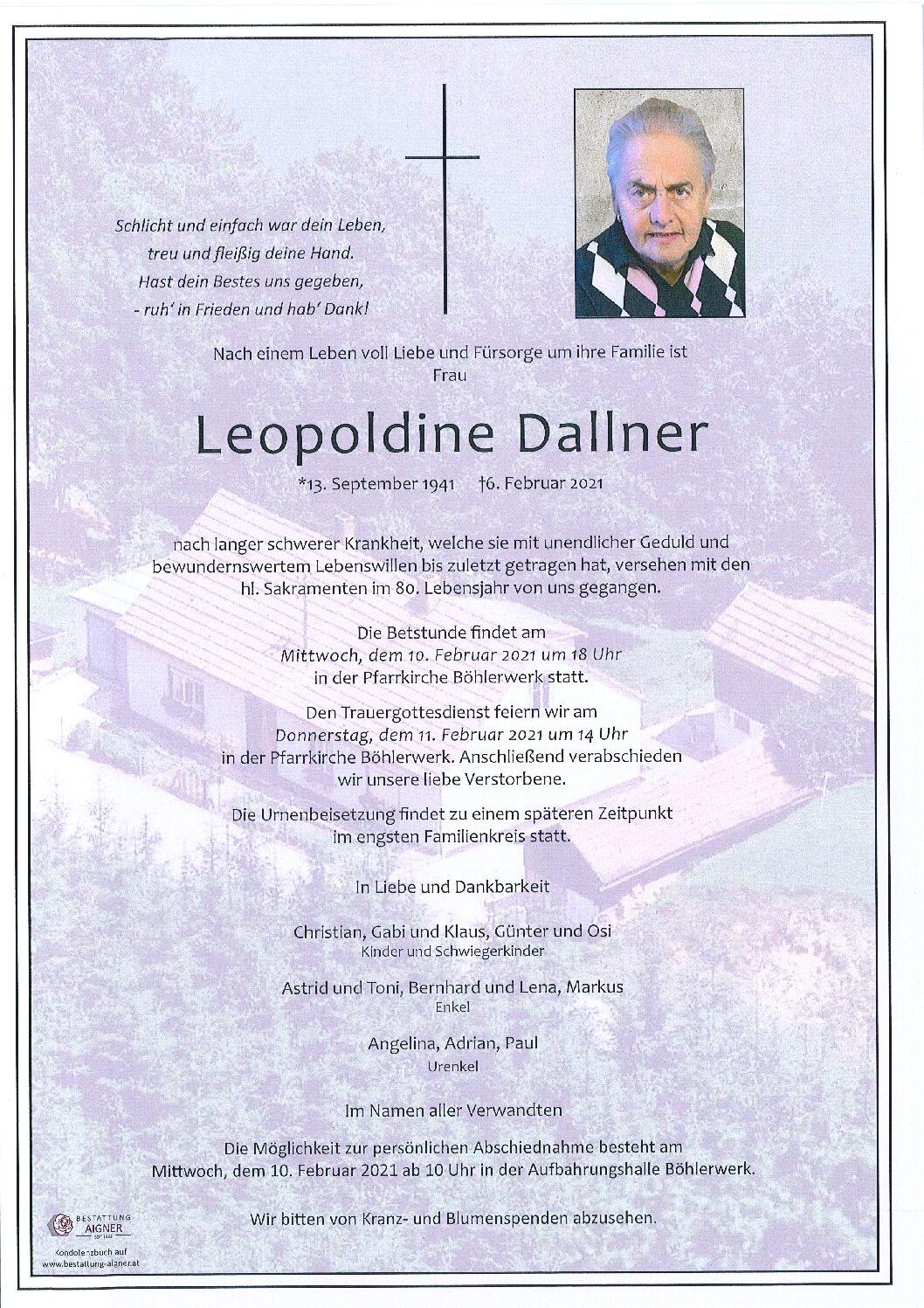 Leopoldine Dallner