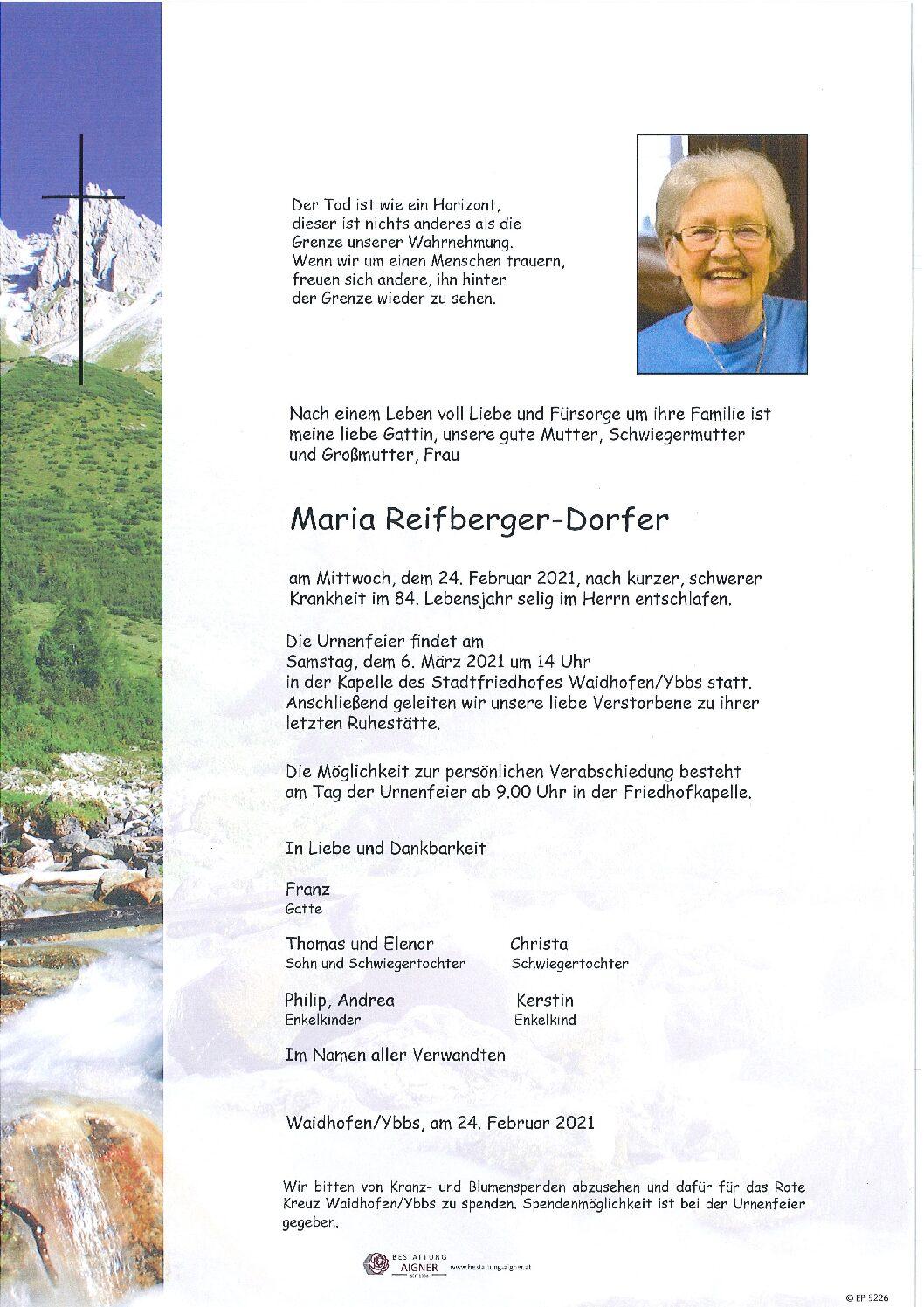 Maria Reifberger-Dorfer