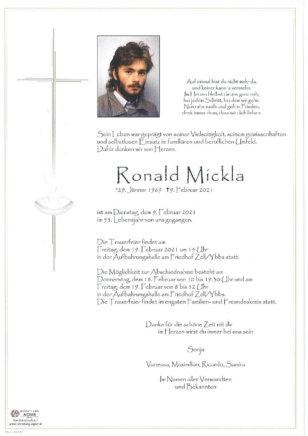 Ronald Mickla
