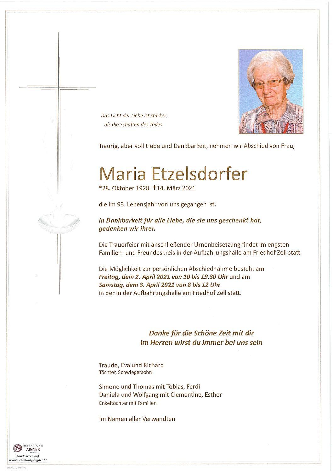 Maria Etzelsdorfer