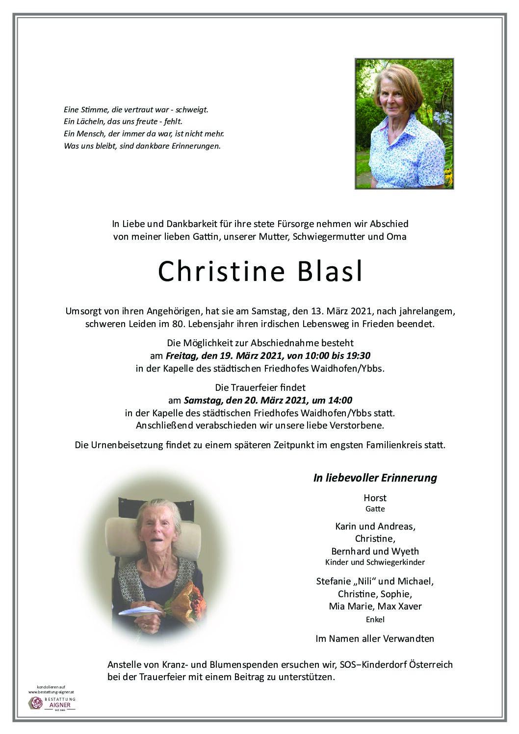 Christine Blasl