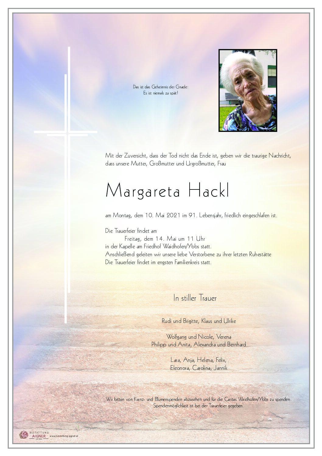 Margareta Hackl
