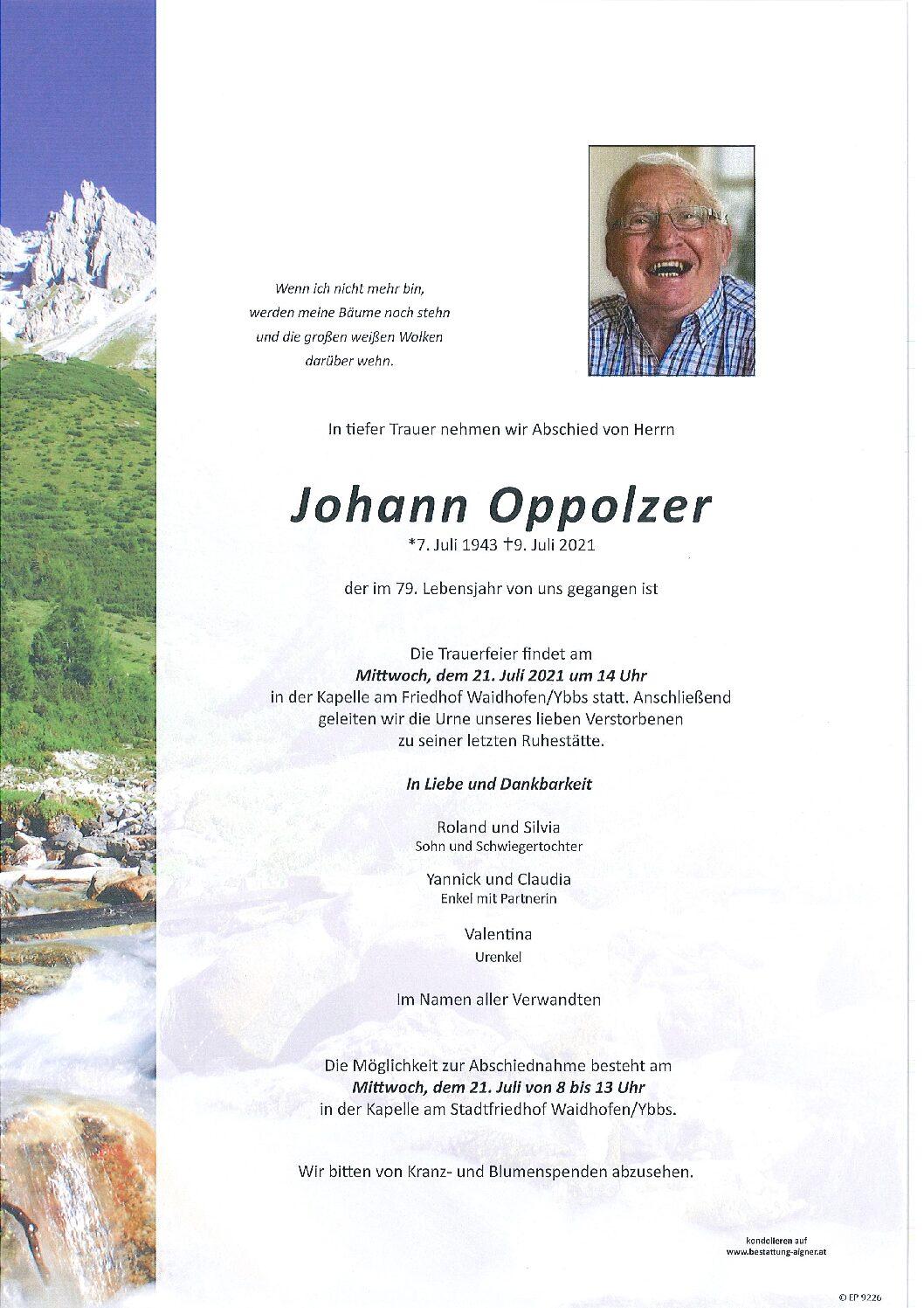 Johann Oppolzer
