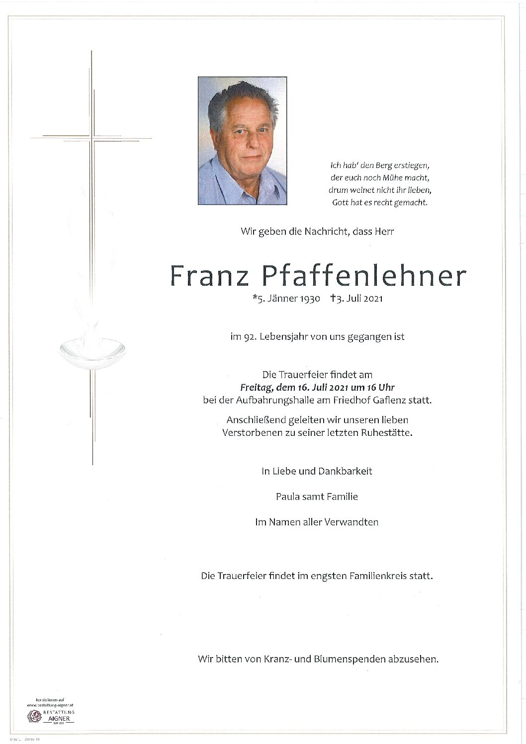 Franz Pfaffenlehner
