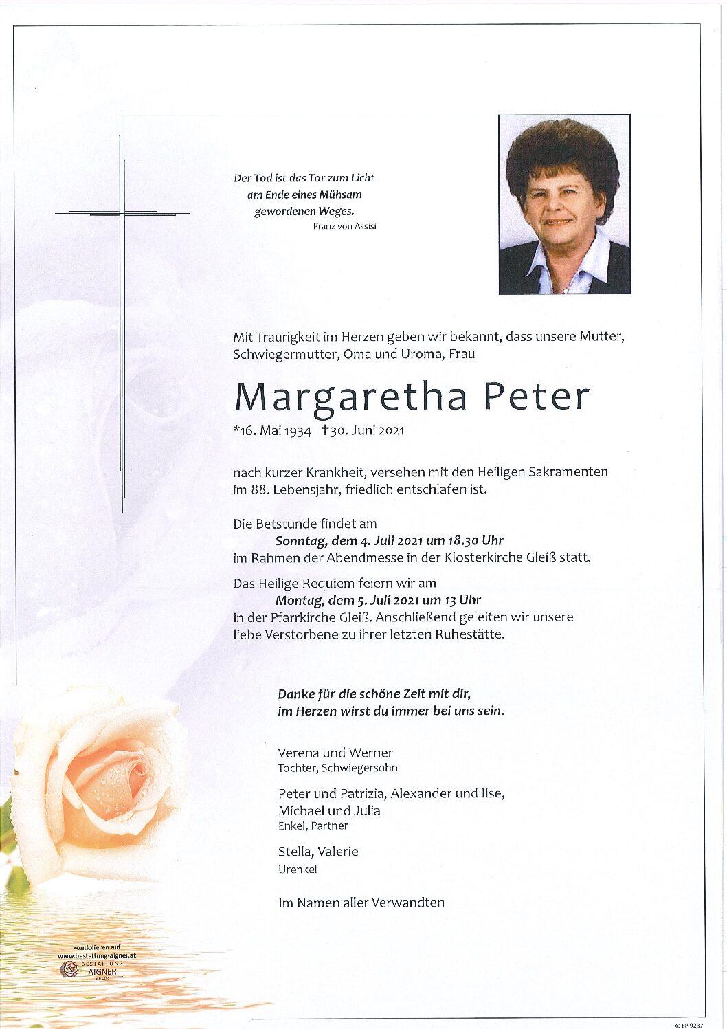 Margaretha PETER