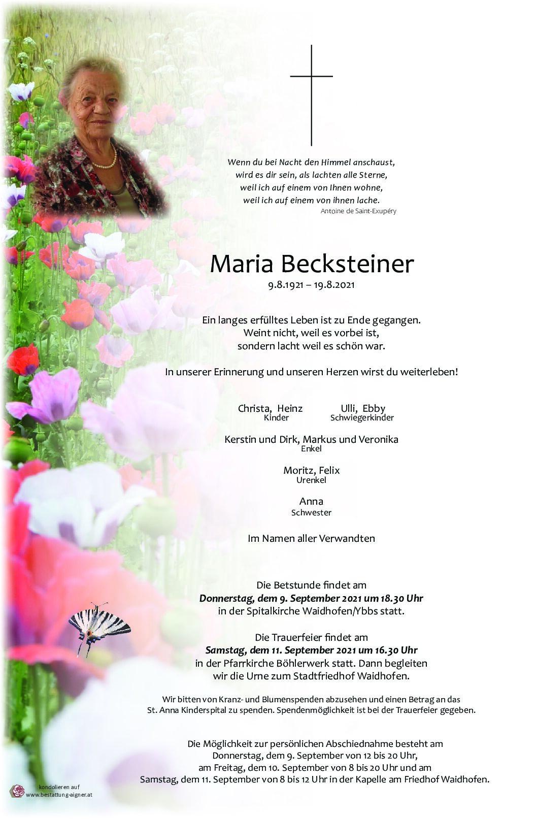 Maria Becksteiner