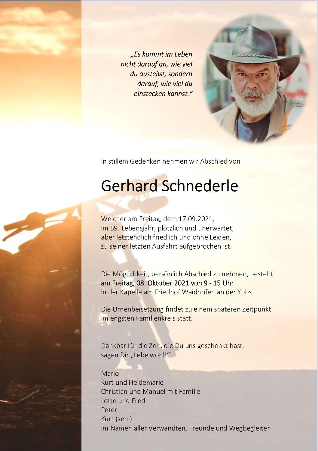 Gerhard Schnederle
